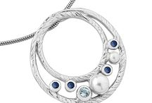 Ocean / New for 2015, Ocean inspired collection with pearls, blue sapphires, blue topaz and textured sterling silver