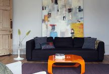 Bold use of art / Interesting artworks and use of art in home decor