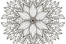 Mandalas y patrones de dibujo.