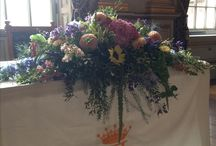 *top table/ ceremony flowers* the flower farm / Top table and ceremony table flowers created by The Flower Farm in Lancashire.