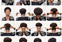 Hair / Discovering new styles! Hair inspiration, hair crushes.  Motivation to keep the fro love strong