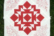 Redwork quilt / patronen