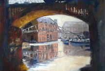 Castlefield, Manchester / Oil paintings of my favourite place in Manchester