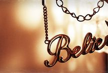 Word of The Year / What's your word of the year? Mine is Believe.