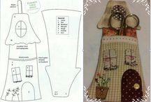 Coisa e tal de costurinhas / Porta tesoura, agulheiros, alfineteiros... / by Suely Mohallem