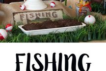 Fishing Party Ideas // Michelle's Party Plan-It / Birthday party ideas for the little fisherman! Fishing party ideas for all ages, including recipes and crafts!
