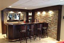 "Basement ideas / Ideas for a ""man-cave,"" rustic bars"