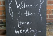 Wedding Signs / Wedding sign inspiration. Ideas for wedding signs and signposts including chalkboard, vintage and fun examples.