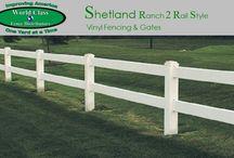 Ranch Rail Style Vinyl Fencing / Ranch Rail Style Vinyl Fencing
