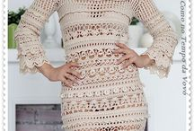lindo vestido de crochê