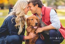 engagement shoot with pet