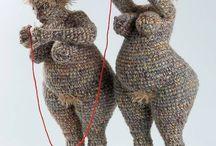Fabric/fibre/multi media sculpture