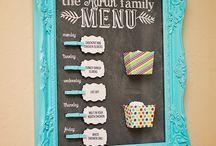Meal menu displays