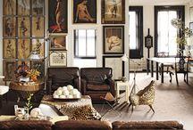 ethnic cottage leather sofa