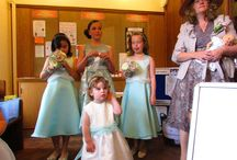 Aqua Bridesmaid dresses / Aqua bridesmaids dresses made for July 2014 wedding  http://www.joytomake.co.uk