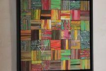 mosaique bois peint