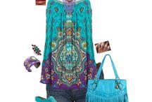 hippie turquoise