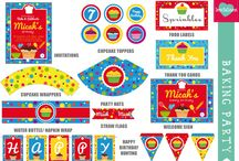 Party Printables / These are our cute printable themes available from our website - http://www.leolovesinvitations.co.za