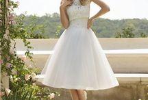 Short Wedding Dress / Haute Couture Short Wedding Dress