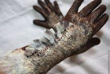 варежки митенки перчатки