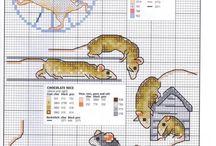 Cross stitch - mice