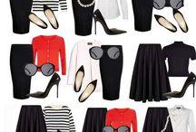 Black white & red