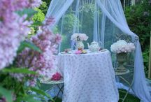 Garden and flowers dollhouse