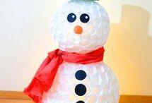 muñecos de nieve manualidades
