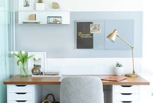Inspiring workspaces & home office ideas / Find inspiration from these beautiful home office spaces. Create the perfect place to focus on your blog or business.
