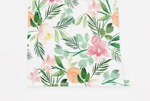 Florida Watercolor Wallpaper Mood Board