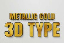 3D Letters Type solution. Give your logo letters a special 3D effect
