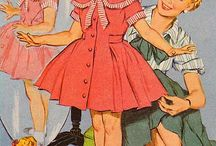 50s fashion illustration