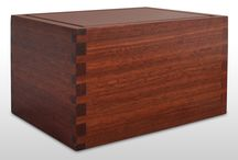 Cremation Boxes / Our cremation boxes are made from Australian Jarrah using the age honoured carpentry dovetail joint renowned for its strength, durability and beauty.  We can laser engrave the top of the box to honour the memory of your loved one.  Available in three sizes, from $88.00 for the small box, and $110.00 for the large box. More information at www.cremationbox.com.au