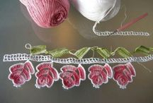 Crochet / tatting edging ,collars
