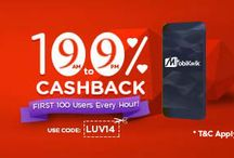MobiKwik Valentine's Day Special Offer - Get 100% cashback on Recharges of Rs.50 or more.