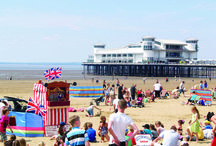 Weston super Mare / One of the best British seaside resorts with miles of golden sandy beaches complemented by Weston-Super-Mare's seafront.