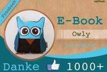 Eulenkissen owly by Worawo / Zeigt her eure zauberhaften Eulen!