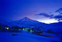 """Damavand """" the highest mountain in IRAN & Middle East """" / Mount Damavand is the highest mountain in the north of Iran and the Middle East , And the tallest volcanic peaks Asia. The mountains in the central part of the Alborz Mountains In the south of the Caspian Sea and is located in Amol city larijan."""