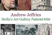 Andrew Jeffries / Andrew Jeffries is a Stella's Art Gallery artist. He is a linoleum block carver that prints in ink. You can find more of his art work at www.StellasArtGallery.com  To purchase these items email StellasArts@gmail.com
