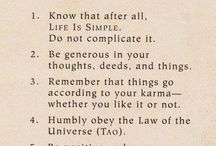 Mantras and thoughts