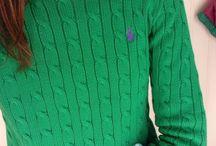 Green RL sweater