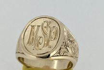 men gold ring