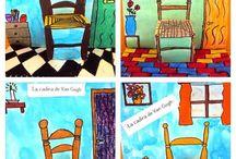 τρισδιάστατη κάρτα van Gogh καρέκλα