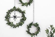 Christmas Wreath Ideas / Christmas wreath. Wreath making, alternative wreath designs. Foliage, art and design.