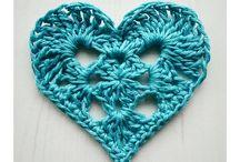 Crochet Corações