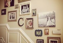 gallery wall on stairs project
