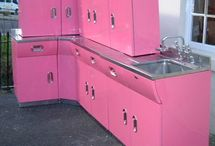 Your mind is a cupboard and you stock the shelves... ~Thomas S. Monson~  / Let's face it. Doing a '50s retro kitchen remodel is a very fun idea. The decade of the 1950s in America had good things going for it stylistically. The clothing, the cars, and even the kitchen appliances were visually appealing in many ways. When one thinks of the American Dream, the classic styles of the 1950s often come to mind. This is what retro kitchen designs are all about... Retro/Vintage Cupboards...