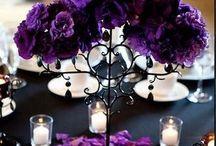 purple center piece