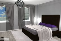 ložnice inspirovaná glamour stylem