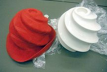 Spiral Wet Felted Hats / Tall Wet Felted Hats